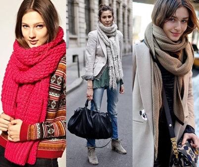 модный приговор тренд вязаные шарфы