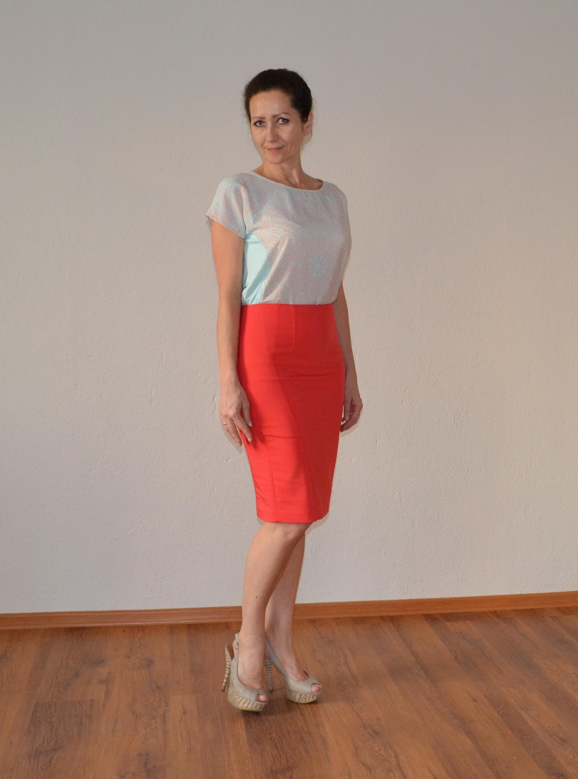 Коралловые юбки с чем носить фото